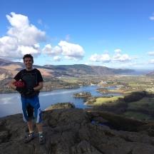 Jack on Walla Crag.