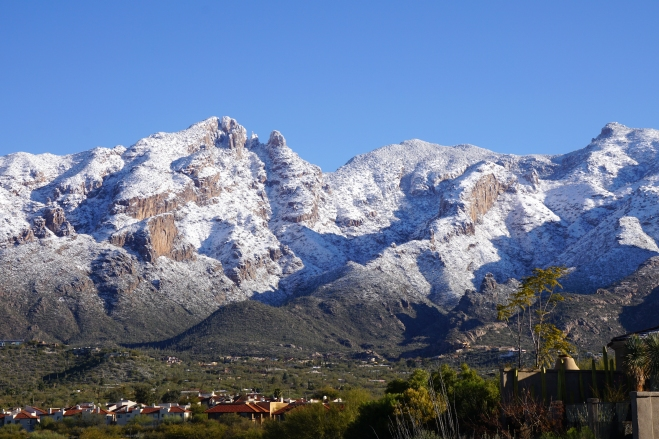 Snowy Santa Catalina Mountains, Tucson, Arizona
